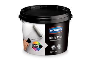 Farba emulsyjna biała do ścian i sufitów - Nobiles Biała Plus